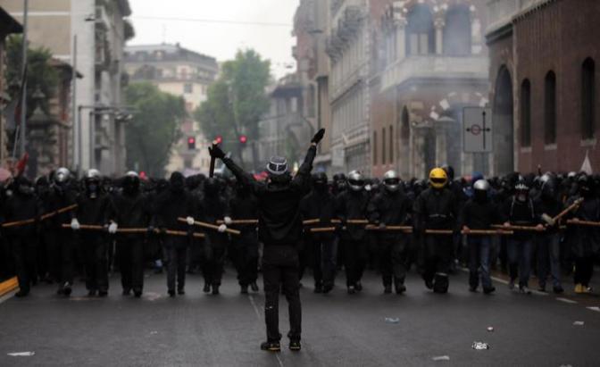 Milan Expo 2015 protest